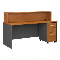 Bush Business Furniture Series C 72W x 30D Reception Desk with Mobile File Cabinet