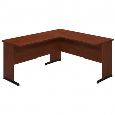 Bush Business Furniture Series C Elite 60W x 24D C Leg L Shaped Desk with 42W Return