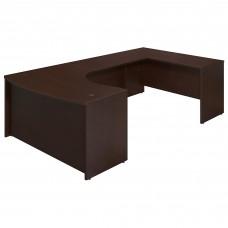 Bush Business Furniture Series C Elite 60W x 43D Right Handed Bow Front U Shaped Desk