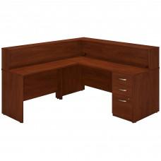 Bush Business Furniture Series C Elite 72W x 30D L Shaped Reception Desk with Storage