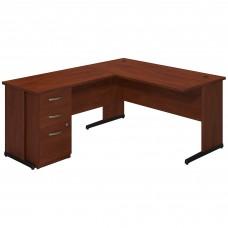 Bush Business Furniture Series C Elite 60W x 30D C Leg L Shaped Desk with Storage