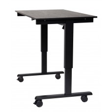 "Luxor STANDE-48  48"" Electric Standing Desk Black/Black"