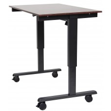 "Luxor STANDE-48  48"" Electric Standing Desk Black/Walnut"