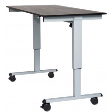 "Luxor STANDE-60  60"" Electric Standing Desk Gray/Black"