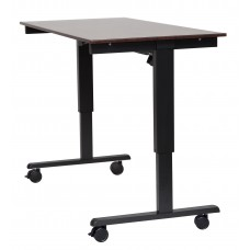 "Luxor STANDE-60  60"" Electric Standing Desk Black/Walnut"