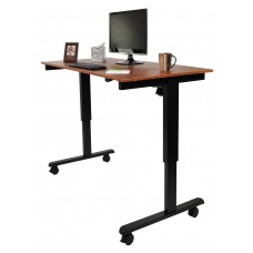 "Luxor STANDE-60-BK/TK  60"" Electric Standing Desk Black/Teak"