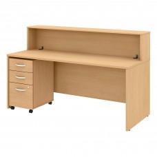 Bush Business Furniture Studio C 72W Reception Desk with Shelf and Mobile File Cabinet