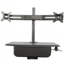 Dual LCD Monitor Arm for Sit to Stand Systems