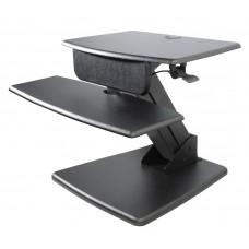 Desktop Sit to Stand Computer Workstation w/base, Black