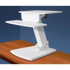 Desktop Sit to Stand Computer Workstation w/base, White