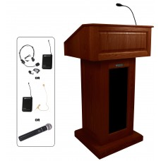Victoria Lectern, Solid Wood - Wireless Sound - Mahogany