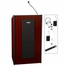 Presidential Plus Lectern - Wireless Sound - Mahogany