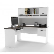 Innova L-shaped desk in White and Antigua
