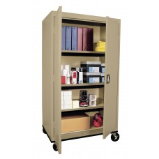 "Sandusky Large Mobile Storage Cabinet, 66""H x 36""W x 24""D, Green"