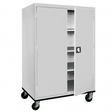 Sandusky® Elite 46X24X66 Mobile Storage Cabinet Red