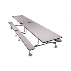 BioFit Tables - 10' Bench Seating - Powder - Specify Laminate and Colors