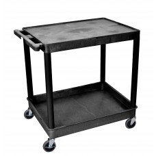 Luxor 2 Shelf Large Black Tub Cart