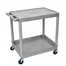 Luxor 2 Shelf Large Gray Tub Cart