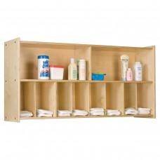 Diaper Wall Storage, (8) diaper cubbies - Assembled