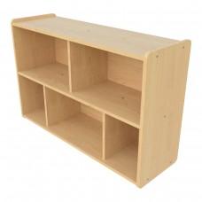 Preschool Compartment Storage, (5) Compartments - Assembled