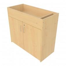 Infant Changing Table, Lockable Storage Cabinet Base - Assembled