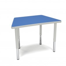 OFM Adapt Series Trapezoid Student Table - 18-26″ Height Adjustable Desk, Blue (TRAP-SL)