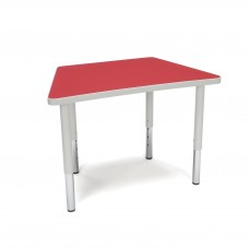 OFM Adapt Series Trapezoid Student Table - 18-26″ Height Adjustable Desk, Red (TRAP-SL)