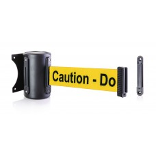 "Steel wall mount - black & 8' ""Caution"" belt"