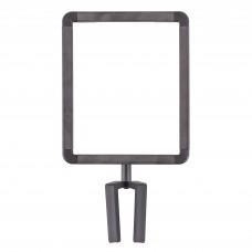 Sign holder for Sentry stanchions