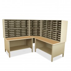 100 Slot Mailroom Organizer, 2 Storage Shelves