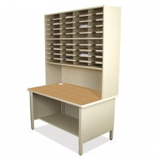 40 Slot Mailroom Organizer, 1 Storage Shelf, Riser