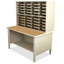 40 Slot Mailroom Organizer, 1 Storage Shelf