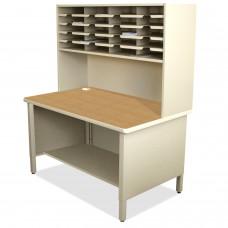 20 Slot Mailroom Organizer, 1 Storage Shelf, Riser
