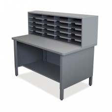20 Slot Mailroom Organizer, 1 Storage Shelf