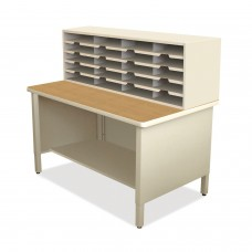20 Slot Mailroom Organizer, 1 Storage Shelf