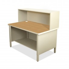 Mailroom Utility Table, 1 Storage Shelf, Riser