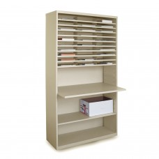 Marvel Mail Sorter with Adjustable Work surface, 80H x 42W