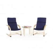 Kiddie Rocker Chair Set - Blue