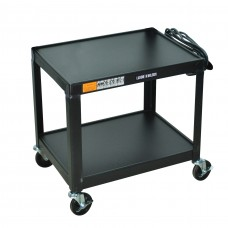 Luxor Black Metal 2 Shelf Presentation Cart