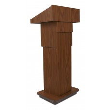 Executive Adjustable Column Lectern - Non Sound - Mahogany