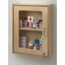 Lockable Medicine/First Aid Wall Cabinet