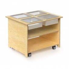 Mobile Sensory Table With Trays & Lids
