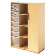 Teachers Wardrobe W/Trays & Locking Door