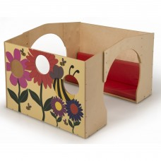 Flowered Reading Haven With Cushion