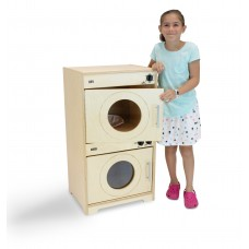 Contemporary Washer/Dryer: Natural Doors