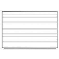Luxor WB7248M 72 x 48 Wall-Mount Music Whiteboard