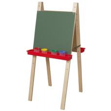 Double Adjustable Easel with Chalkboard