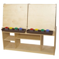 Art Center for Four with Brown Trays