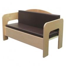 Sofa with Brown Cushion