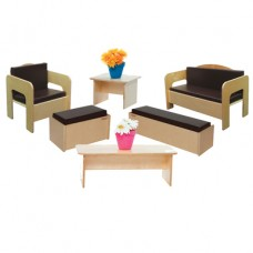 Children's Furniture set of (6) with Brown Cushions